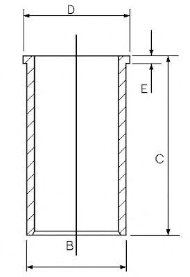 Гильза цилиндра Гильза цилиндра Sprinter/Vito 2.2/2.7CDI  (88mm) GOETZE арт. 1402030000