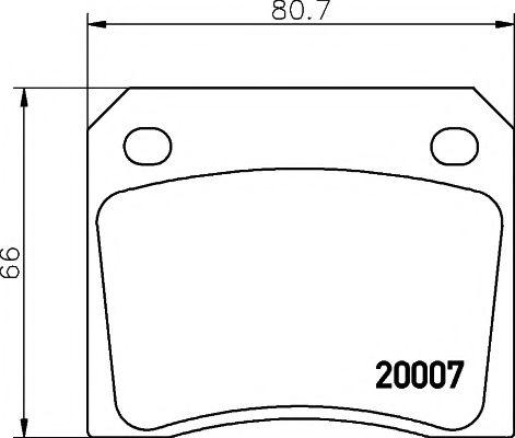 Тормозные колодки дисковые  арт. 2000702