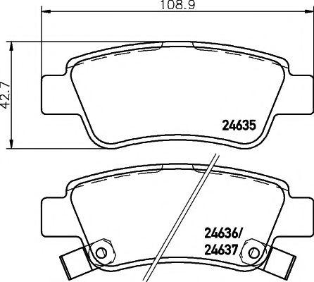TEXTAR HONDA Тормозные колодки задн.CR-V III,IV 07- TEXTAR 2463501