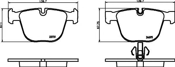 TEXTAR BMW тормозные колодки зад. F01,07 7 08- TEXTAR 2373101