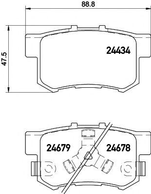 Тормозные колодки, к-кт.  арт. 2443402