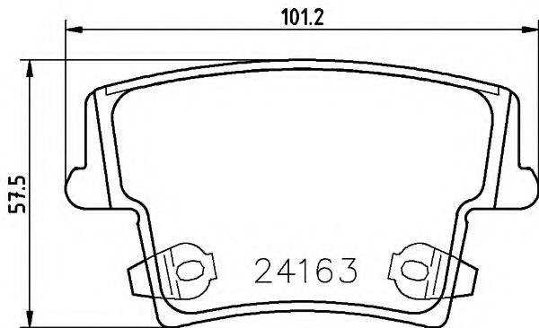 Колодки тормозные  арт. 2416301