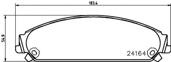 Тормозные колодки дисковые TEXTAR  арт. 2416401