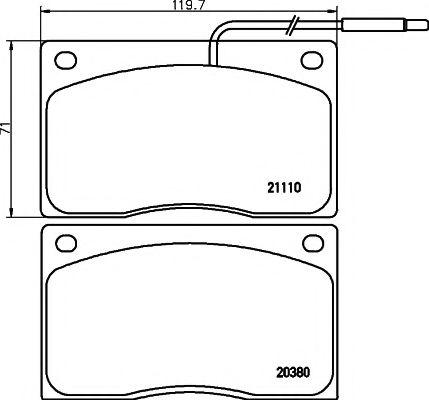 Тормозные колодки дисковые  арт. 2038002