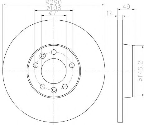 TEXTAR  тормозной диск зад. Citroen Jumpy 07- TEXTAR 92157100