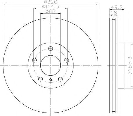 Тормозной диск TEXTAR  арт. 92162400