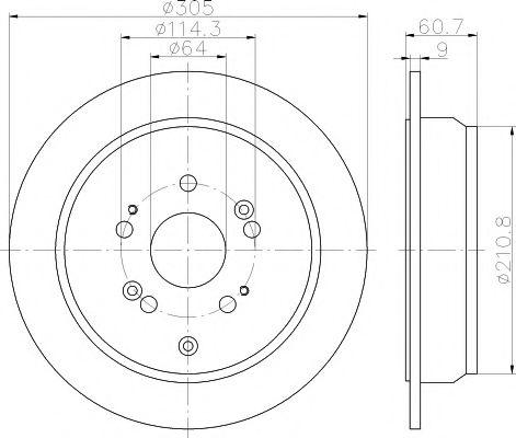 Тормозной диск  арт. 92162500