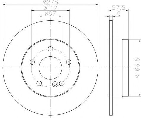 TEXTAR  Тормозной диск задн DB204 TEXTAR 92163103
