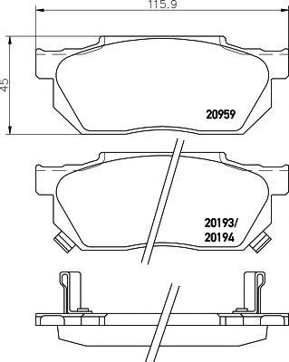 TEXTAR HONDA Тормозные колодки передние Civic,Accord TEXTAR 2095902