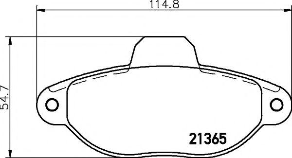 Комплект тормозных колодок, дисковый тормоз  арт. 2136502