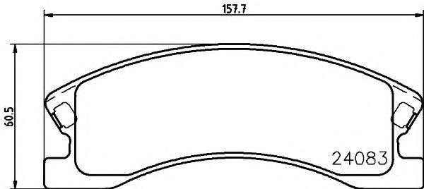 TEXTAR JEEP Тормозные колодки дисковые Grand Cherokee II 02- TEXTAR 2408301