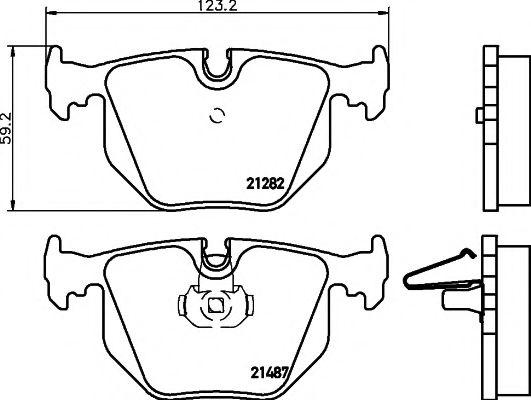 Тормозные колодки дисковые TEXTAR  арт. 2148701