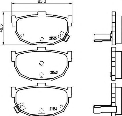 Тормозные колодки дисковые TEXTAR  арт. 2155301
