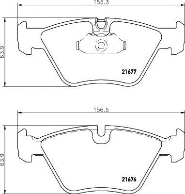 TEXTAR BMW Колодки торм.передн.5серия (E39) -96 TEXTAR 2167703