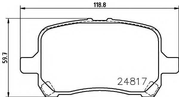 Комплект тормозных колодок, дисковый тормоз  арт. 2481701