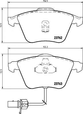 TEXTAR AUDI Тормозные колодки дисковые A6 01- с датч. TEXTAR 2376201