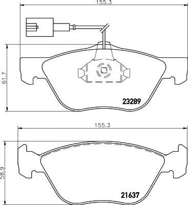 Комплект тормозных колодок, дисковый тормоз  арт. 2328902