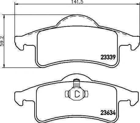 Тормозные колодки дисковые TEXTAR  арт. 2333901