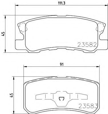 Тормозные колодки дисковые TEXTAR  арт. 2358202