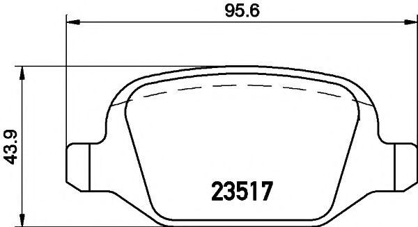 Тормозные колодки, к-кт.  арт. 2351703