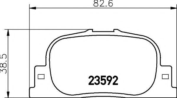 Комплект тормозных колодок, дисковый тормоз  арт. 2359201