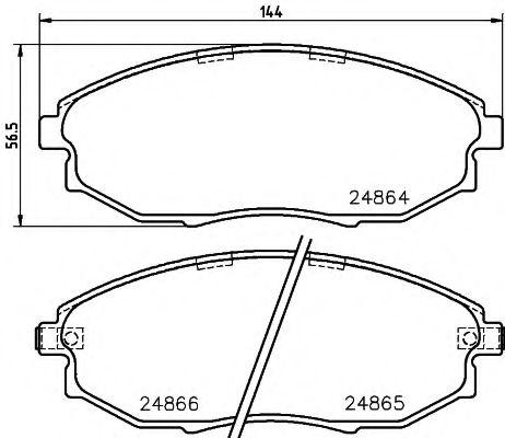 Тормозные колодки дисковые Textar  арт. 2486401