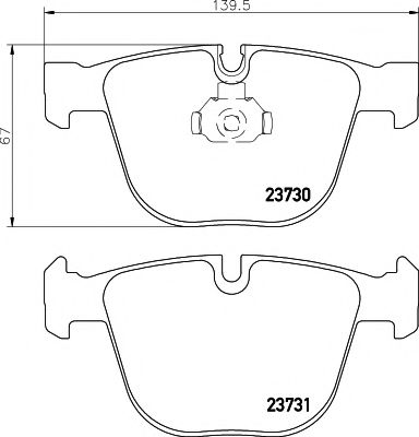 TEXTAR BMW Тормозные колодки задн. E60,E66,E65,5 Gran Turismo,7 F01,X5 E70,F15,X6 E71,F16 09- TEXTAR 2373001