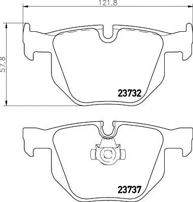 Тормозные колодки дисковые TEXTAR  арт. 2373201