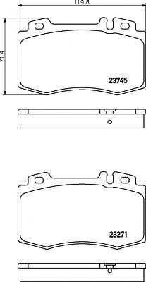 TEXTAR DB Тормозные колодки перед. (17,7mm)  DB W203/220 TEXTAR 2374502