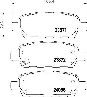 Тормозные колодки дисковые TEXTAR  арт. 2387101
