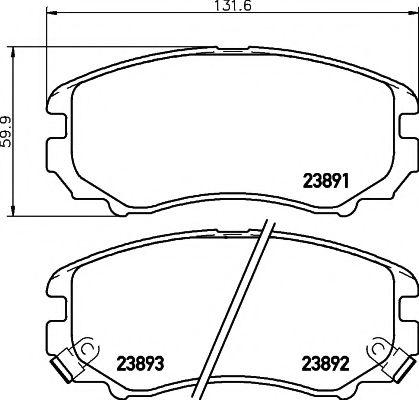 Тормозные колодки дисковые TEXTAR  арт. 2389101