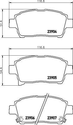 Тормозные колодки дисковые Textar  арт. 2390401