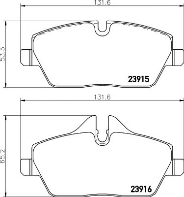Тормозные колодки дисковые TEXTAR  арт. 2391503