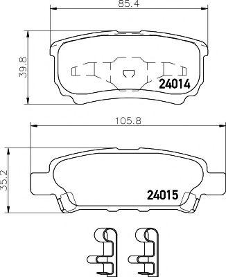 Тормозные колодки дисковые TEXTAR  арт. 2401401