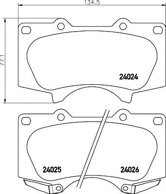 Brake pad set textar 2402401