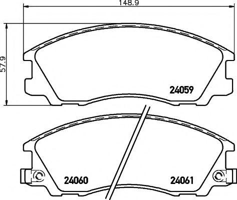 Комплект тормозных колодок, дисковый тормоз  арт. 2405901
