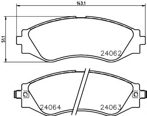 Тормозные колодки дисковые  арт. 2406201