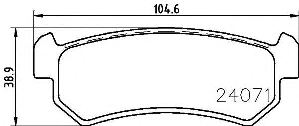 TEXTAR DAEWOO Тормозные колодки дисковые задн. Lacetti 04- Nubira 97- CHEVROLET TEXTAR 2407101