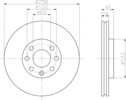 TEXTAR  Диск тормозной перед. (вентил.) OPEL Astra G (256*24) TEXTAR 92091803