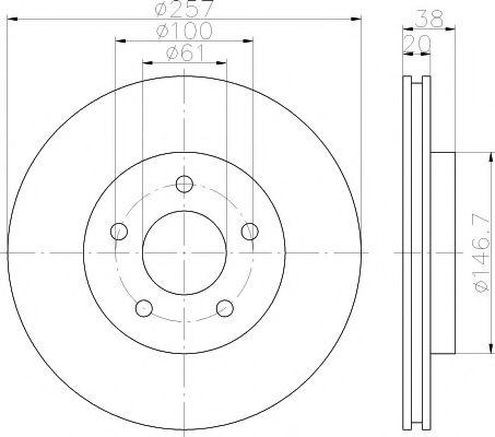 Тормозной диск  арт. 92152403