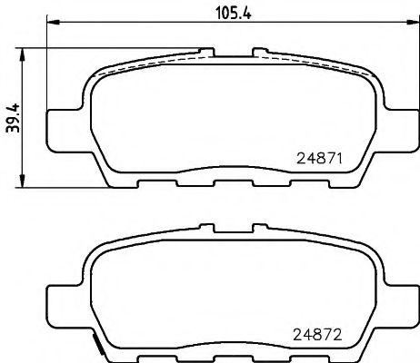 Тормозные колодки дисковые Textar  арт. 2487101