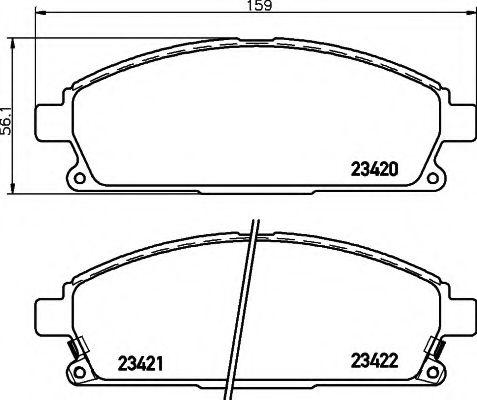 Комплект тормозных колодок, дисковый тормоз  арт. 2342001
