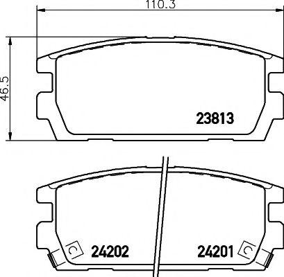 Комплект тормозных колодок, дисковый тормоз  арт. 2381301