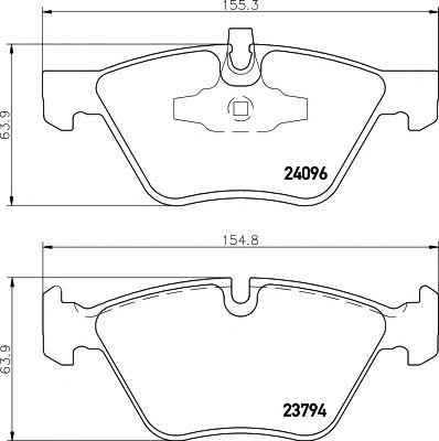 TEXTAR BMW  Тормозные колодки передн.E90 07- TEXTAR 2409601