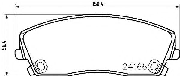 Тормозные колодки дисковые TEXTAR  арт. 2416601