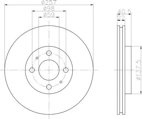 Тормозной диск TEXTAR  арт. 92069603