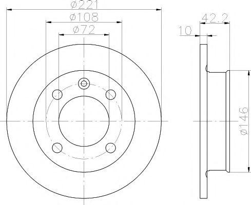 TEXTAR  FORD Диск тормозной передний FIESTA 76-89 221 10 8.7 TEXTAR 92011900