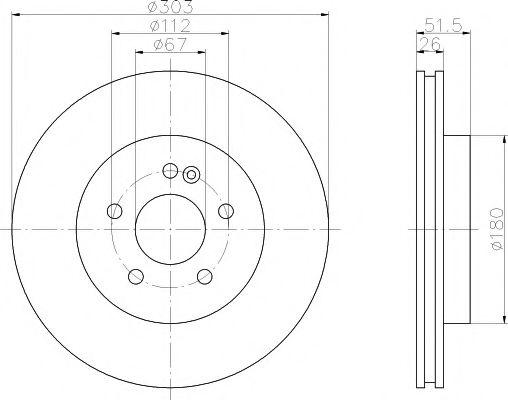 TEXTAR DB Диск тормозной передний W163 98- TEXTAR 92089905