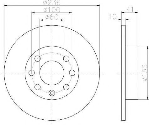 TEXTAR  OPEL Диск тормозной передний CORSA 1,0-1,3 82-;KADETT D+E 1,0-1,3 TEXTAR 92020800