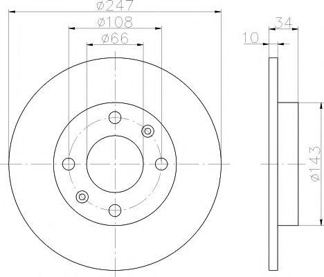 TEXTAR  Диск тормозной передний PEUGEOT 106,205,309, 405 (247*10) TEXTAR 92029803